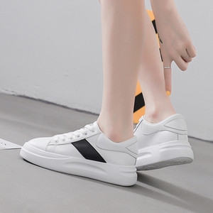 2019 fashion brand high quality genuine leather white shoes AMCQ oversized sole sneakers off-duty necessity EU39 CX200727