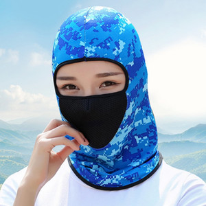 Masque de protection contre le cyclisme explosif, Soleil Sunscreen Headscarf, cyclisme à la coupe extérieure cyclable cycliste, sport de camouflage de camouflage 3PC