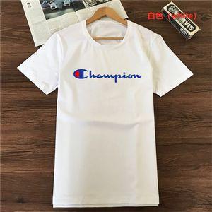 CHAMPION Hommes T-shirt de haute qualité T-shirts Orange Noir Blanc Casual Hauts ras du cou T été col rond manches courtes en coton Tshir