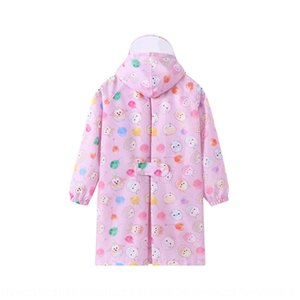 hVPgj dibujos animados Q Body Bag ropa Capa de ropa del cuerpo versión impermeable de los niños con la cartera visera transparente lluvia boysgirlsbabiesjumpsuit