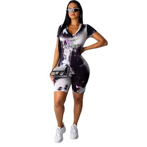 Women designer 2 piece set tracksuit summer clothing t-shirt shorts sportswear pullover leggings outfits tee top bodysuits print letter 0232
