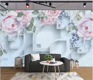 3d photo wallpaper custom Rose beautiful three-dimensional nostalgic sofa background wall home decor wallpaper for walls 3d wall sticker