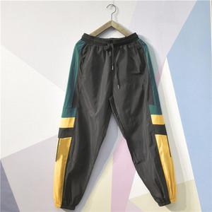 Pencil Designer Herren Pants Neue Luxus-Pants mit Panelled Muster lose Kordelzug Sport-Hosen-beiläufige neun Punkte hohe Qualität