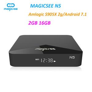 Magicsee N5 Android 9.0 TV Box Amlogic S905X 4K Media Player 2GB 16GB 2.4G 5G Wifi BT4.1 Set Top Box