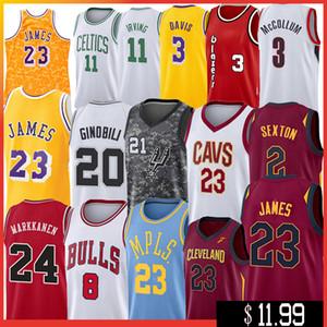 17-NCCA Jersey Kawhi Leonard James Iverson Hombres LeBron Durant 13 Harden Curry Stephen universidad jerseys del baloncesto Russell Westbrook Men10