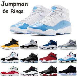 Zapatos para hombre baratas del baloncesto Jumpman Bred 6s Anillos Taxi Space Jam South Beach UNC equipo Real Negro hielo Gimnasio Rojo Multicolor Concord zapatillas de deporte