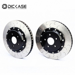 Dicase racing modified disc brake rotor for CP7040 CP9040 Six pistons brake caliper for X5 DxPX#