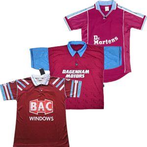 1991 92 Retro Westen LAMPARD Fußball-Trikot 99 00 95 97 Ham 100 Jahre Winter Kitson DI CANIO DEFOE FERDINAND Klassisches Fußballhemd