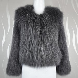 Women Real Fur Vest Coat Winter Women Knitted Clothing Natural Raccoon Dog Fur Vest Fashion Ladies Natural raccoon