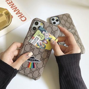 luxury designer Leather Classic iphone 11 Pro XS MAX XR X fashion brand full cover protective phone case For Galaxy S20 S10 Note10 9 Cover