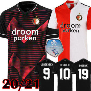 2019 20 maillots de football Feyenoord Maillots de football VAN PERSIE BERGHUIS VILHENA Ensemble de gants de football Kit JORGENSEN CLASI TOORNSTRA pied maillot