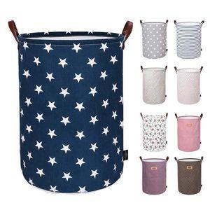 Immagazzinaggio pieghevole Basket Bambini Giocattoli sacchetti di immagazzinaggio Bins stampato vario Secchio Canvas Handbags Abbigliamento Organizzatore Tote 30pcs T1I2130