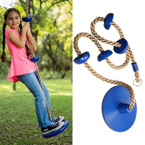 Children Swing Disc Toy Seat Kids Swing Round Rope Swings Outdoor Playground Hanging Garden Play Entertainment Activity ZZA2349