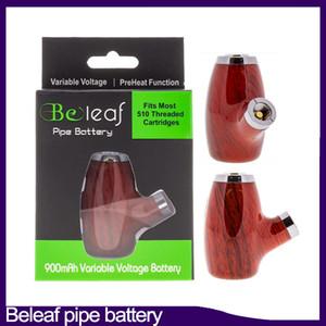 Original da bateria Beleaf TUBO inteligente Vape Pen cartucho ajustável Bateria 900mAh O pré-aquecimento VV Vairable Tensão 510 Rosca E Cachimbo 0266320
