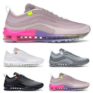 Nike Air Max 97 Off White Menta Reina Blanca populares cómodas zapatillas de deporte para mujer de los deportes al aire libre tamaño 36-45 ejecutan