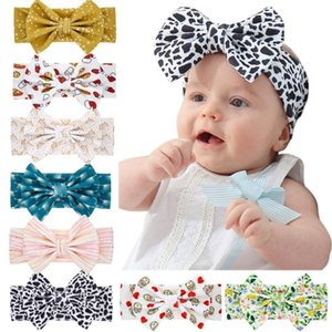 8Pcs Lot Children Printed Bows Elastic Hair Bands Baby Girls Super Soft Headband Bezel For Hair Wholesale Accessories fOPh#