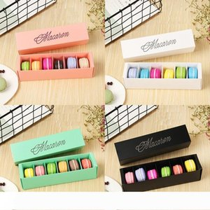 4 colors macaron packaging wedding gift laser paper boxes 6 grids chocolates box cookie box W7549