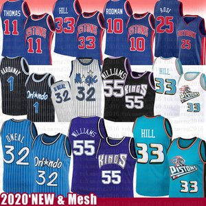Jason Williams 55 Grant 33 Colline Shaquille O'Neal 32 Basketball Jersey Piston Magics Penny Hardaway Derrick Rose Isiah Thomas Dennis Rodman
