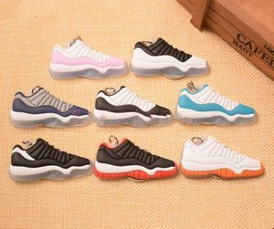 Go Wholesale high quality Running Mini Shoe Keychain 3D Sneaker Soft Rubber Multi Styles Available 3d sneaker keychains keychain lanyard
