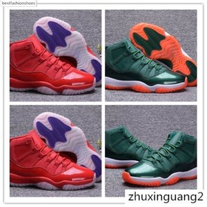 High Quality 2018 New 11 XI Bulls Red Blue 72-10 Triple Raging Bull Men Basketball Shoes 11s Bull Green Running Sneakers Shoes