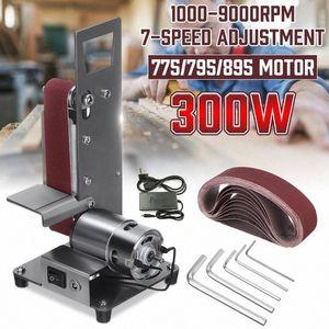 350W Mini Electric Belt Machine Sander 1000-9000RPM Mini Belt Sander DIY Polishing Grinding Machine Abrasive Belts Grinder Cut RpIl#