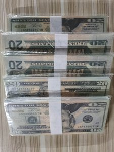 US Dollar Hot Sales Fake Money Movies Prop 20 Dollars Bank Note Counting Prop Money Festive Party Games Toys Collections Gifts 06