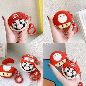 3d caso del silicone del fumetto divertente Conque Super Mario bros airpods per Apple AirPod 1/2 copertura auricolare per cialde aria mela pro cassa