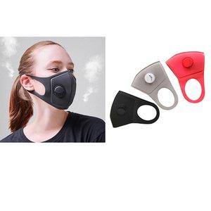 Maschera di respirazione valvola antipolvere lavabile, Viso, Bocca di copertura PM2.5 respiratore antipolvere anti-batteriche maschere riutilizzabili panno di cotone DHL