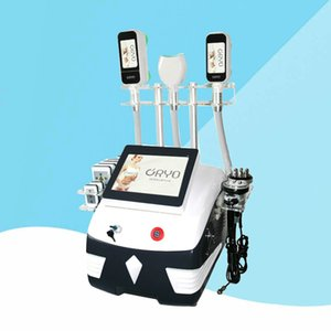 2020 9 IN 1 Cryolipolysis with 5 Cryo Handles+40k+RF+Facial RF+ 8 Pads Lase Cavitation 360 Degree Double Chin Fat Freeze Slimming Machine