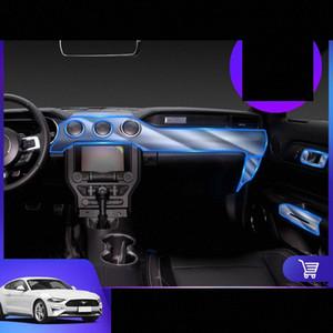 Lsrtw2017 TPU 자동차 인테리어 안티 스크래치 필름 대시 보드 보호 스티커를 들어 머스탱 GT 2015 2016 2017 2018 2019 2020 lLJE 번호