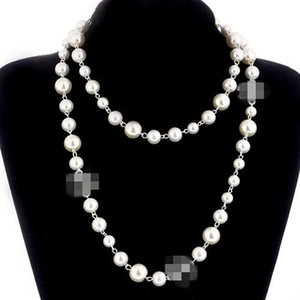 Le donne perle Moda maglioni collana in oro rosa placcato la collana di perle per la femmina migliori regali gioielli e accessori