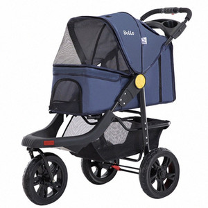 Portable Folding Pet Cart Dog Cat Teddy Compact Four-wheeled Outdoor Travel Gear Go Out Light Pet Stroller Dog Stroller dSY9#