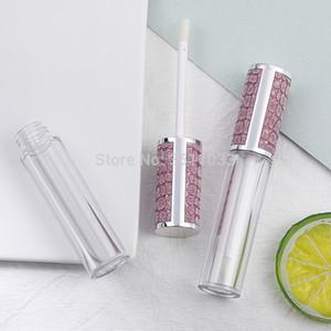 Neue Qualitäts-6ML Leere Lip Gloss Wand Rohr Rund Lipgloss Rohr-frei kosmetische Lipgloss Container Öl nachfüllbare Flasche