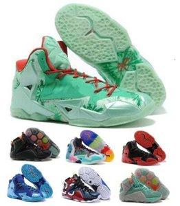 2020 Баскетбол обувь кроссовки Green Что Lebrones 11 12 Christmas Heat NSRL Game Data South Beach Away Человек Мужская обувь