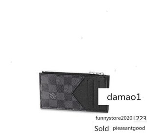 Portamonedas N64038 de los hombres de cadena larga de cuero Monedero titulares de carpetas de la tarjeta monedero clave compacto tarde de los embragues