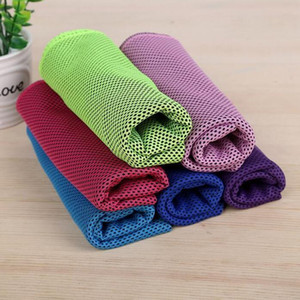 Double Layer Ice Cold Towel Cooling Summer Sunstroke Sports Exercise Cool Quick Dry Soft Breathable Cooling Towel DHL Free 217