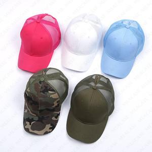 15 cores Marca Baseball Caps malha Snapback Bola Hat Designer verão viseira Boutique Mulheres Homens Praia Hat Sports Outdoor Cores sólidas D7605