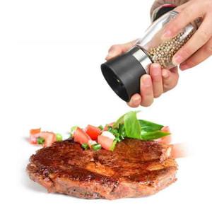 Qualitäts-bester Verkauf Glas Pfeffer Menage: Salz Kräuter Gewürz Hand Grinder Abraser Mühle manuelle Pfeffermühle Küchenwerkzeug 6 Farbe wählen DHF260