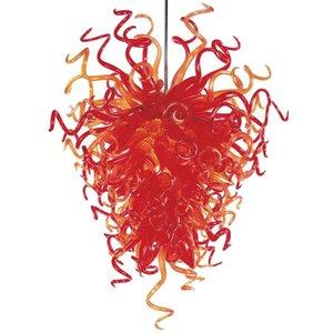 EG UL-Zertifikat LED-Leuchten Orange Farbe Kristall-Kronleuchter Hand durchgebranntes Borosilicatglas Kronleuchter Beleuchtung