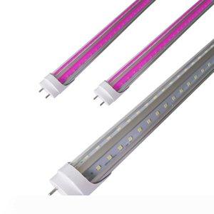 T8 T12 HO 2FT 3FT 4FT LED Grow Light Tube for Germination & Microgreens ,Sun Pink White Full Spectrum with UVA,V Shaped 270 degree Beam