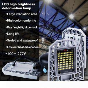 Deformable E26 E27LED Garage Workshop Light IP65 Waterproof and leakage proof Lighting Industrial 85-265V Ceiling Lamp for Warehouse MS001