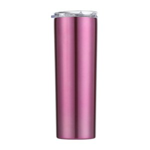 2020 Skinny Tumblers Stainless Steel Drinking Cup With Straw Double Wall Vacuum Insulation Cup Straight Portable Coffee Mug A04 From mhigl