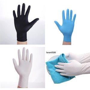 Food Extended Thicken Nitrile Rubber Disposable for Industrial Restaurant Cleaning 100pcs Gloves H3ls