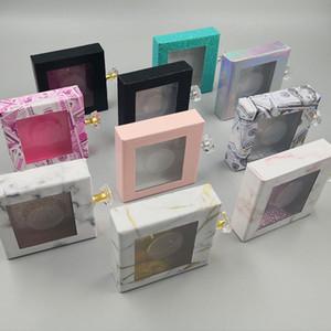 Кристалл ручки Square Lash Box Ложные Ресницы Упаковка Box Поддельный 3D Норковые ресницы Коробки Пустой Алмазный магнитный чехол RRA3287