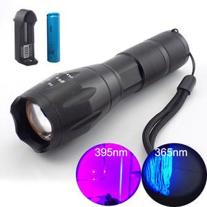 365nm 395nm haute puissance UV Led Flashilight zoom fluorescent Blacklight UV 18650 Flash Lampe Torches pour la détection
