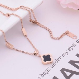 Designer jewelry necklace for women titanium steel clover pendant necklace hot fashion free of shipping