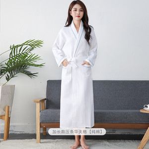 Autumn Waffle cotton Sexy robes women high quality hotel kimono dressing gown Sauna SPA Home bathrobes women robes