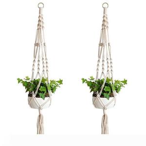 Plant Hanger Hook Flower Pot Handmade Knitting Natural Fine Cordage Planter Holder Basket Home Garden Balcony Decoration