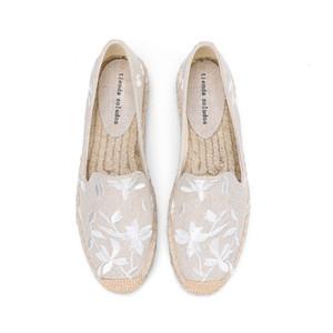 2020 Flache Plattform Rushed Echt Zapatillas Mujer Gelegenheits Sapatos Tienda Soludos Damen Espadrilles flache Schuhe Mokassins Arbeit