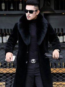 2020 Winter-Herren-Designer Jacken Hombres Warm Windjacke Lange Wolle-Mischungen Outer Mäntel Schwarz verdicken Mantel M-6XL
